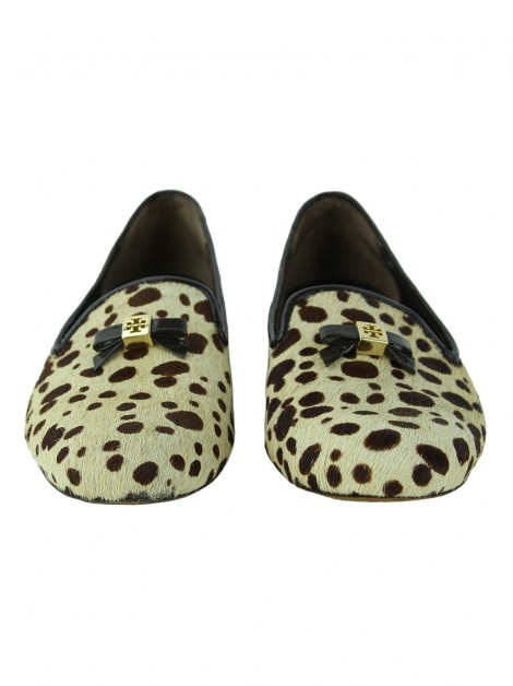Slippers Tory Burch Cavalino Bege