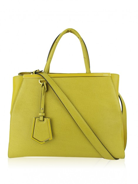 Bolsa Fendi 2Jours Medium Amarelo