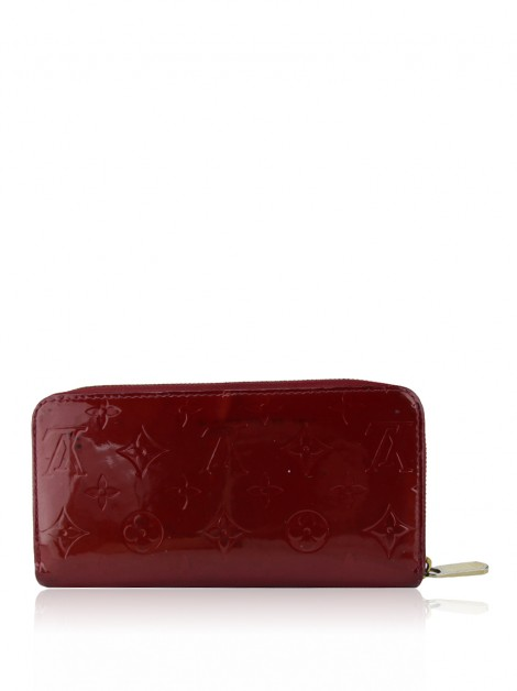 Carteira Louis Vuitton Zippy Vernis Cherry