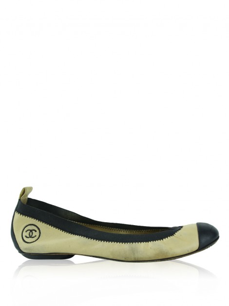Sapatilha Chanel Cap Toe Bicolor