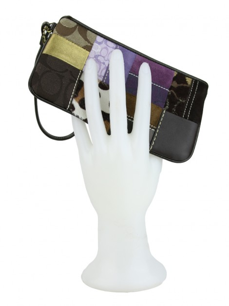 Carteira Coach Holliday Patchwork Wristlet
