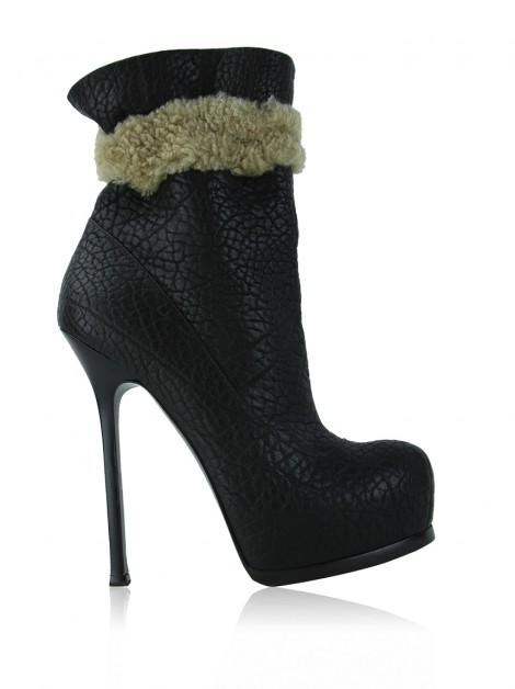 Ankle Boot Yves Saint Laurent Tribute Shearling