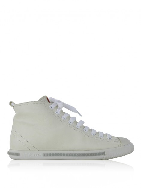 Tênis Prada High Top Off White