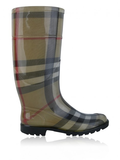 Bota Burberry Check Rubber