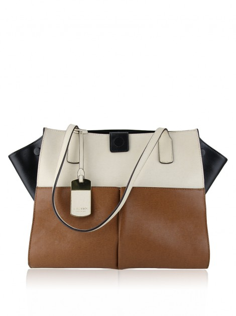 Bolsa Lauren Ralph Lauren Newbury Colorblock Pocket Tote