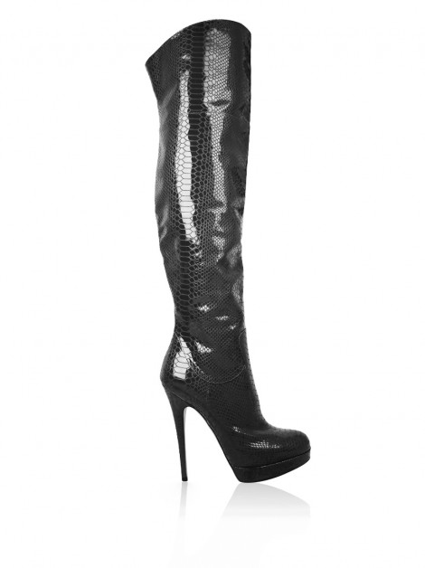 Bota Casadei Over Knee Embossed