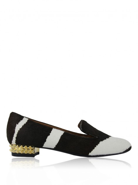 Sapato Fendi Cavallino Studded Smoking