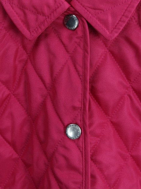 Casaco Burberry Nylon Quilted Rosa Infantil