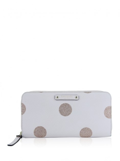 Carteira Kate Spade Haven Lane Polka Dot Neda Rosa
