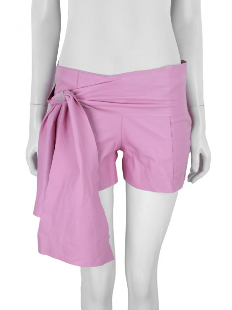 Shorts Ammis Couro Rosa