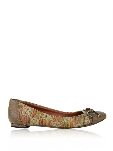 Sapatilha Gucci Horsebit Tweed Bamboo