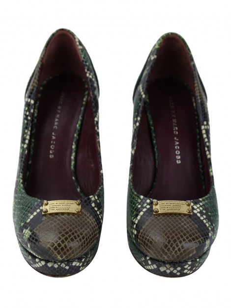 Sapato Marc By Marc Jacobs Embossed Verde