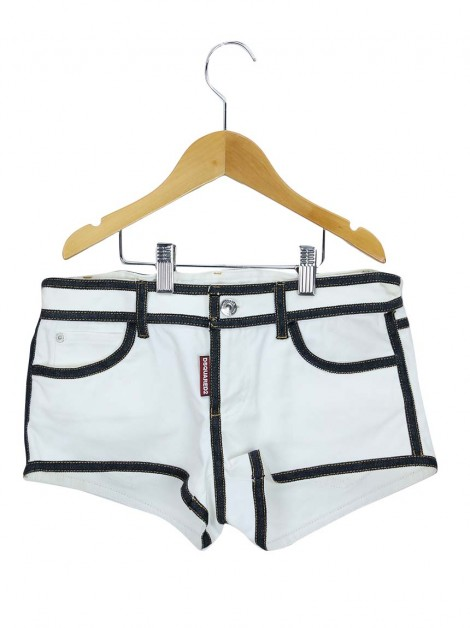 Shorts Dsquared Sarja Off White Infanto Juvenil