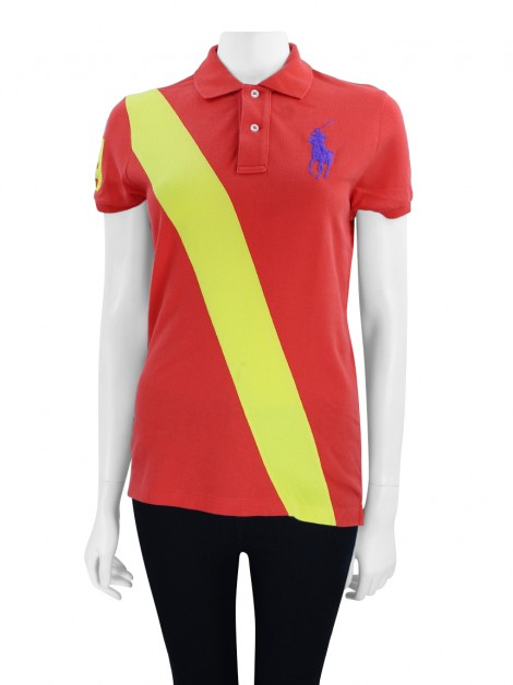Blusa Ralph Lauren The Skinny Polo Vermelha