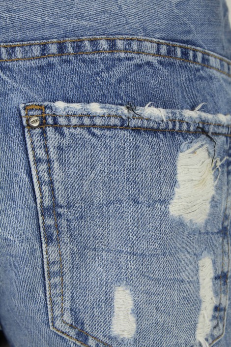Short  Le Lis Blanc Jeans Curto Destroyed