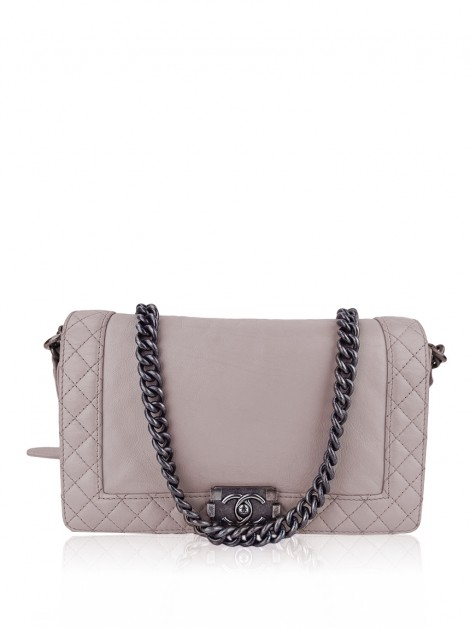 Bolsa Chanel Boy Reverse Medium Rosa