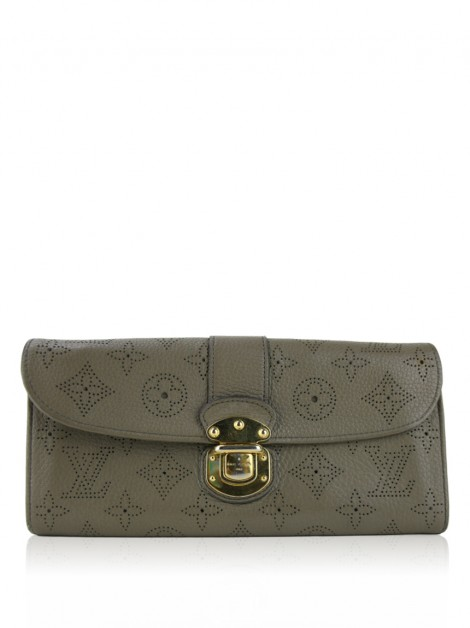 Carteira Louis Vuitton Taupe Monogram Mahina Amelia