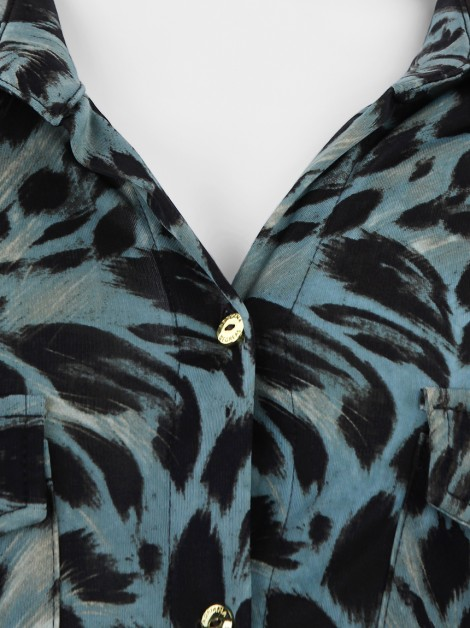 Camisa Adriana Degreas Malha Animal Print