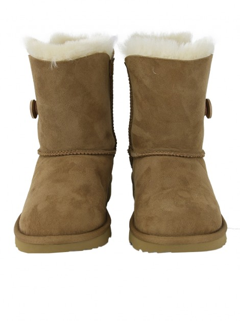 Bota UGG Mini Bailey Button II Caramelo Infantil