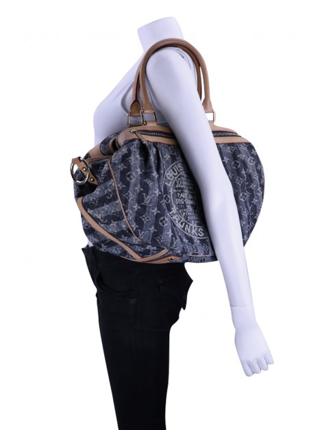 Bolsa Louis Vuitton Cruise Porte Epaule Raye GM Denim