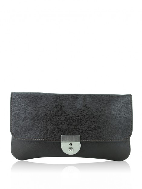 Clutch Longchamp Veau Foulonne Travel Marrom