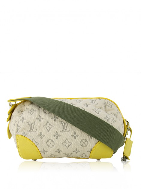 Bolsa Louis Vuitton Denim Pochette Round Jaune
