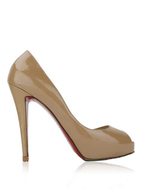 Sapato Christian Louboutin Very Prive 120 Bege