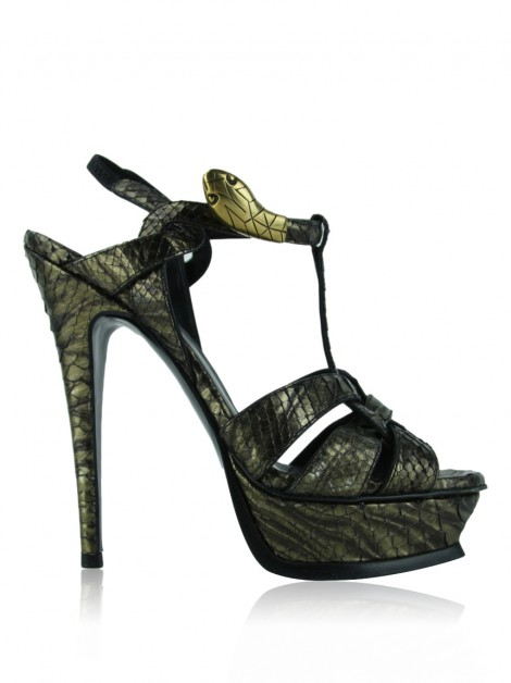 Sapato Yves Saint Laurent Tribute Serpente Python