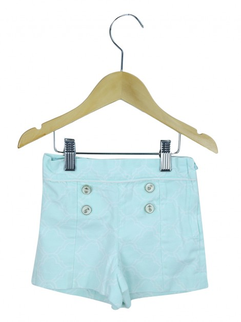 Shorts Janie and Jack Geometrica Verde Agua