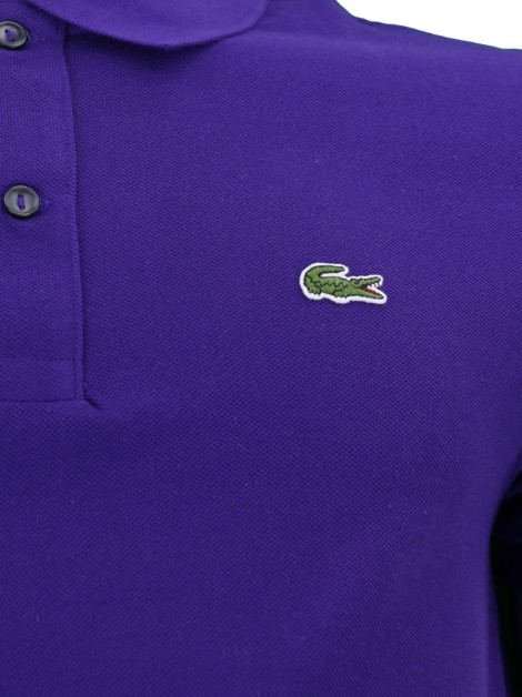 Camisa Polo Lacoste Slim Fit Roxo