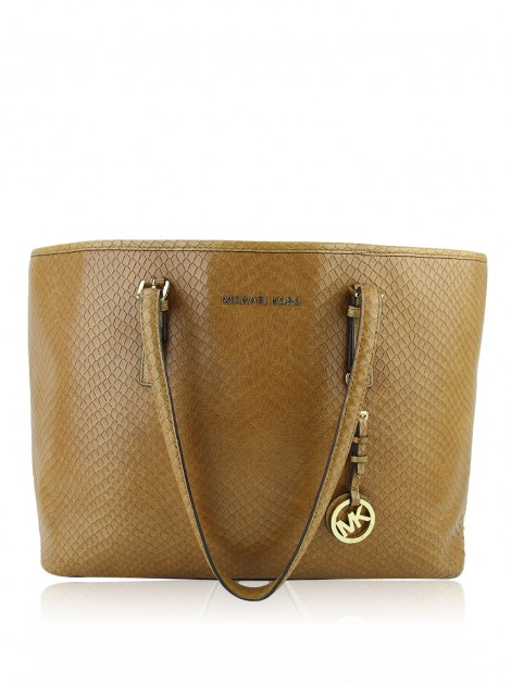 Bolsa Michael Kors Jet Set Multifunction Travel Tote Caramelo
