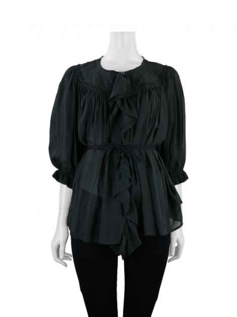 Blusa Marc By Marc Jacobs Babados Chumbo