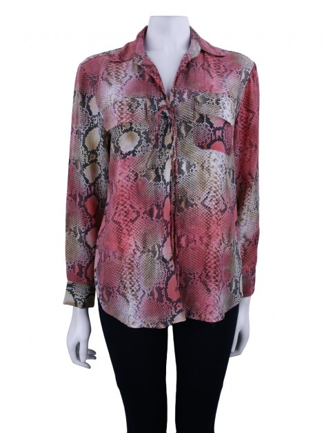 Blusa Animale Seda Estampada