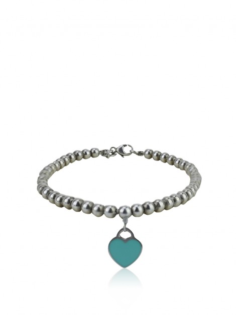 Pulseira Tiffany & Co Bead Mini Heart Blue