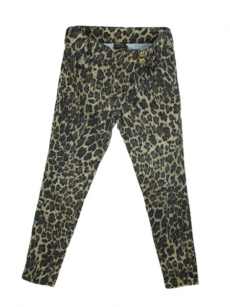 Calça Mixed Slim Animal Print