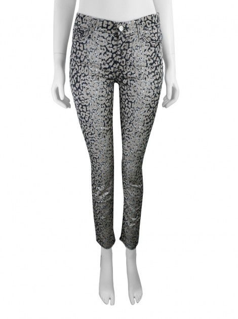 Calça Seven For All Mankind The Highwaist Ankle Skinny Mixed Leopard