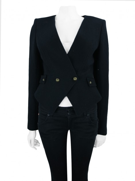 Blazer Seven For All Mankind Smoking Lã Preto