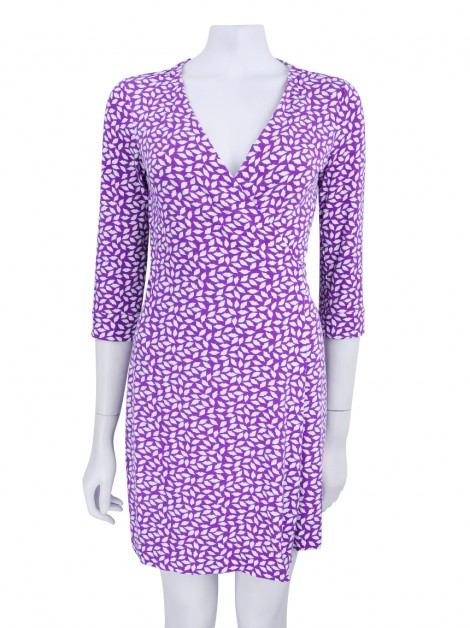 Vestido Diane Von Furstenberg New Julian Two Mini Lips