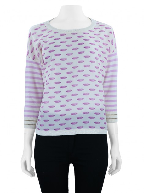 Blusa Animale Estampa Bicolor