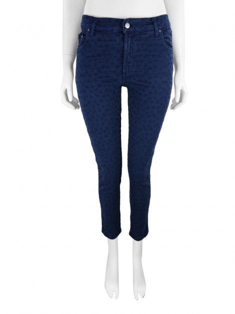 Calça Carolina Herrera Skinny Bordada Denim