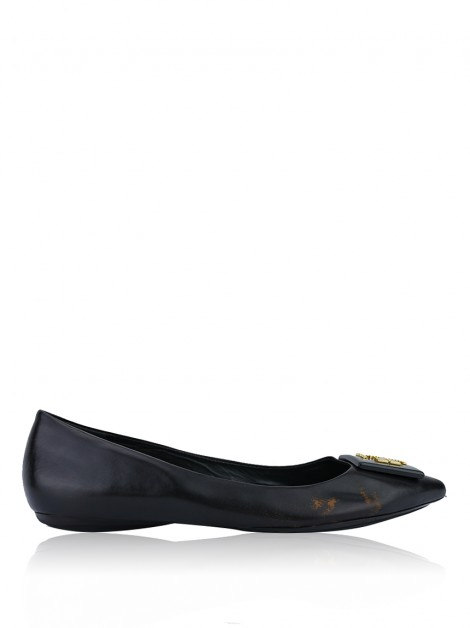 Sapatilha Tory Burch Pointed Logo Preto