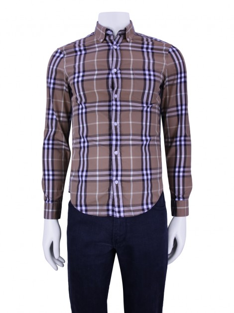 Camisa Burberry Brit Check Bege