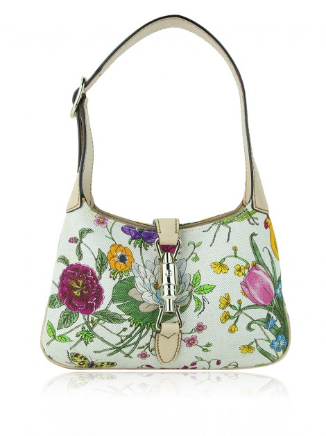 Bolsa Gucci Jackie O Piston Mini Floral