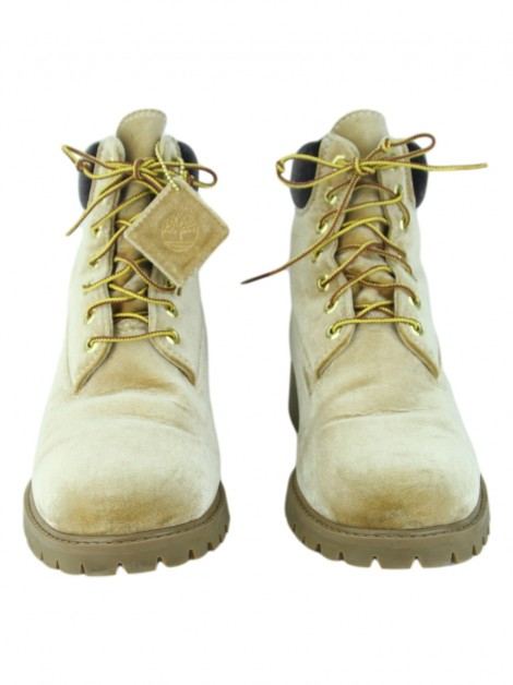 Bota Off-White X Timberland 6 Inches Caramelo Masculina