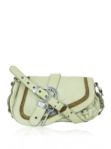 Bolsa Christian Dior Double Gaucho Saddle Bege
