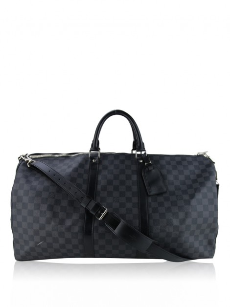 Mala Louis Vuitton Damier Graphite Keepall Bandoulière 55