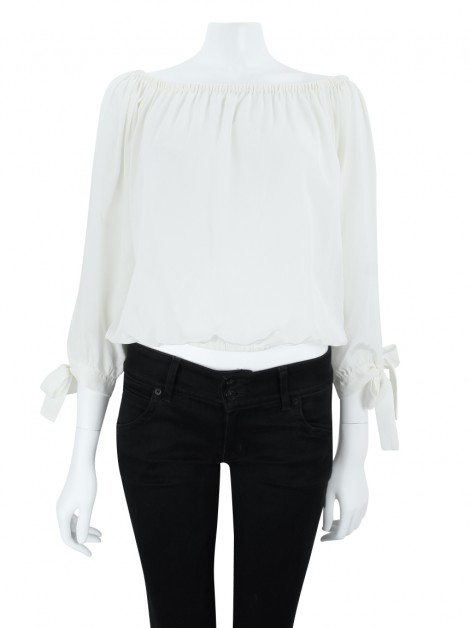 Blusa Mixed Seda Off White