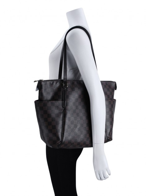 Bolsa Louis Vuitton Totally MM Damier Ébène