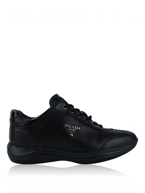 Tênis Prada Low-Top Preto