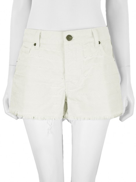Shorts Animale Renda Off White